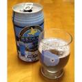 夏にピッタリ、青いビール(発泡酒)