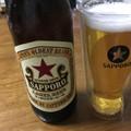 休日に瓶ビールを楽しむささやかな幸せ(^ ^)