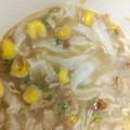 麺と言っても、スープにゃ。