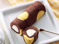 ローソンストア100 切れてるロールケーキ チョコバナナ