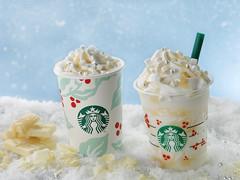 カップの中はまさに雪降るクリスマス!スタバがホリデーシーズン限定「ホワイト チョコレート スノー フラペチーノ」など2品を新発売
