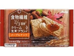 アサヒフード&ヘルスケア クリーム玄米ブラン 食物繊維 メープルナッツ 袋2枚×2