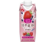 森永 ミルク&フルーツPLUS+ ストロベリーミックス