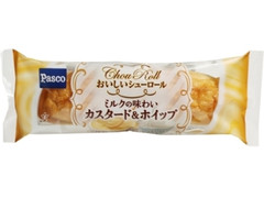 Pasco おいしいシューロール ミルクの味わいカスタード&ホイップ 袋1個