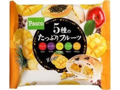 Pasco 5種のたっぷりフルーツ リンゴ、レーズン、パイン、パパイヤ、マンゴー