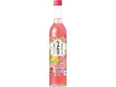 サッポロ ウメカク 果実仕立ての梅酒カクテル ピンクグレープフルーツ 瓶500ml