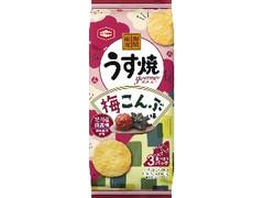 亀田製菓 うす焼グルメ 梅こんぶ味 袋75g