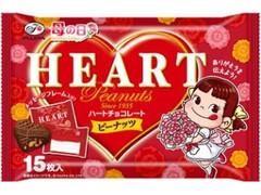 不二家 ハートチョコレート ピーナッツ 母の日 袋15枚