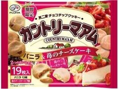 不二家 カントリーマアム バニラ&苺のチーズケーキ 袋19枚