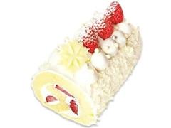 不二家 雪降る 苺のプレミアムロールケーキ