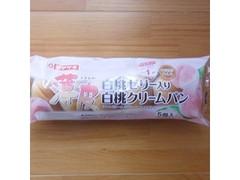 ヤマザキ 薄皮 白桃ゼリー入り白桃クリームパン 袋5個