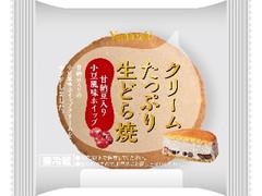 ヤマザキ クリームたっぷり生どら焼 甘納豆入り小豆風味ホイップ 袋1個