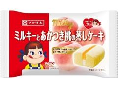 ヤマザキ ミルキーとあかつき桃の蒸しケーキ