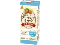 マルサン 毎日おいしいアーモンドミルク 砂糖不使用 パック200ml