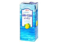 グリコ 高原の岩清水&レモン パック200ml