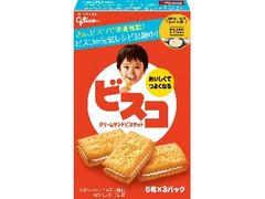 グリコ ビスコ クリームサンドビスケット スペシャルデザインパック 箱5枚×3