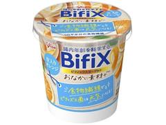 グリコ BifiX おなかに素材+ヨーグルト 皮入りオレンジ