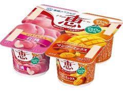 雪印メグミルク ナチュレ 恵 megumi 白桃+マンゴーミックス カップ70g×4