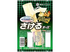 雪印メグミルク 北海道100 さけるチーズ ローストガーリック味 袋25g×2