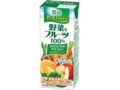雪印メグミルク 農協 野菜Days 野菜&フルーツ 100%