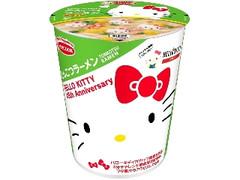 エースコック ハローキティ 45周年 お祝いカップ麺 とんこつラーメン カップ54g