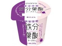 オハヨー きょうの鉄分葉酸ヨーグルト プルーン味 カップ110g