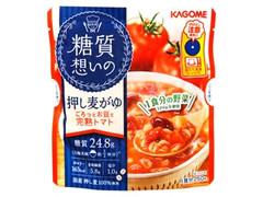 カゴメ 糖質想いの押し麦がゆ ごろっとお豆と完熟トマト 袋250g