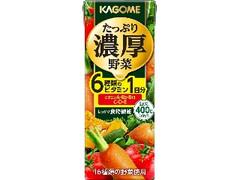 カゴメ たっぷり濃厚野菜 パック200ml