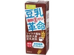 ソヤファーム 豆乳革命 ソイラテ風味焙煎大麦豆乳飲料 パック200ml
