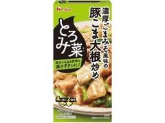 ハウス とろみ菜 濃厚ごまみそ風味の豚こま大根炒め 箱70g×2