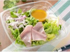 ローソン すりおろし野菜ドレで食べるグリーンサラダ