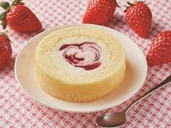 ローソン Uchi Cafe' SWEETS×八天堂 かすたーど苺ロールケーキ