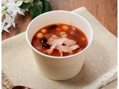 ローソン ベーコンと豆のトマトスープ