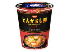 日清のとんがらし麺 うま辛海鮮 カップ64g