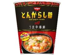 日清食品 日清のとんがらし麺 うま辛海鮮 カップ64g