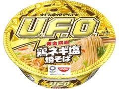 日清食品 日清焼そばU.F.O.黄金鶏油 鶏ネギ塩焼そば カップ112g