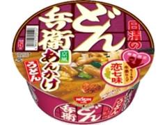 日清食品 日清のどん兵衛 恋七味付き 京風あんかけうどん カップ80g
