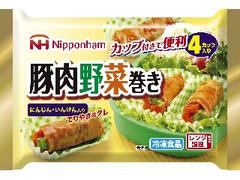 ニッポンハム 豚肉野菜巻き 袋4カップ