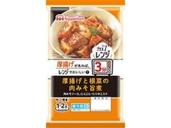 ニッポンハム プラス1レンジ 厚揚げと根菜の肉みそ旨煮 袋120g