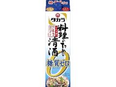 タカラ 料理のための清酒 糖質ゼロ パック1.8L