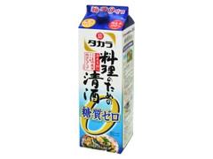タカラ 宝焼酎 料理のための清酒 糖質ゼロ パック1.8L