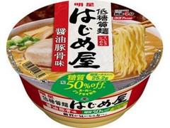 明星 低糖質麺 はじめ屋 糖質50%オフ 醤油豚骨味 カップ91g