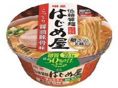 明星 低糖質麺 はじめ屋 糖質50%オフ こってり醤油豚骨味 カップ85g