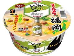 明星食品 チャルメラどんぶり 福岡ゆずすこ ゆず香る鶏白湯ラーメン カップ80g