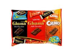 ロッテ ガーナ クランキー 3種のアソートシェアパック 袋36枚