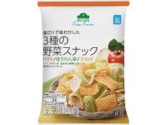 トップバリュ グリーンアイ Free From 塩だけで味付けした 3種の野菜スナック トマト/ほうれん草/玉ねぎ 袋40g