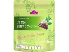 トップバリュ FLAVORED TEA 洋梨&白桃フラワーティー