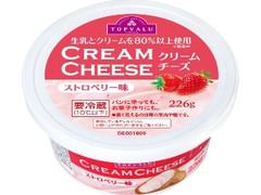 トップバリュ クリームチーズ ストロベリー味 カップ226g