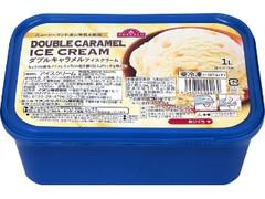 トップバリュ ニュージーランド産の生乳を使用 ダブルキャラメルアイスクリーム 箱1000ml