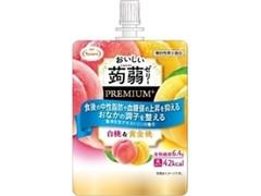 たらみ おいしい蒟蒻ゼリー PREMIUM+ 白桃&黄金桃 袋150g